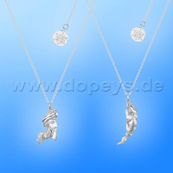 Disney Halskette / Freundschaftskette - Elsa & Anna (Die Eiskönigin 2) in Weißgold von Couture Kingdom 12102621