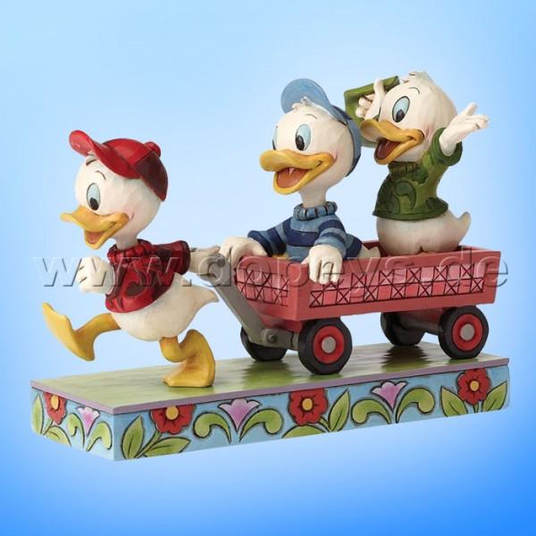 """Disney Traditions / Jim Shore Figur von Enesco """"Here Comes Trouble (Tick, Trick & Track)"""" 4054283."""