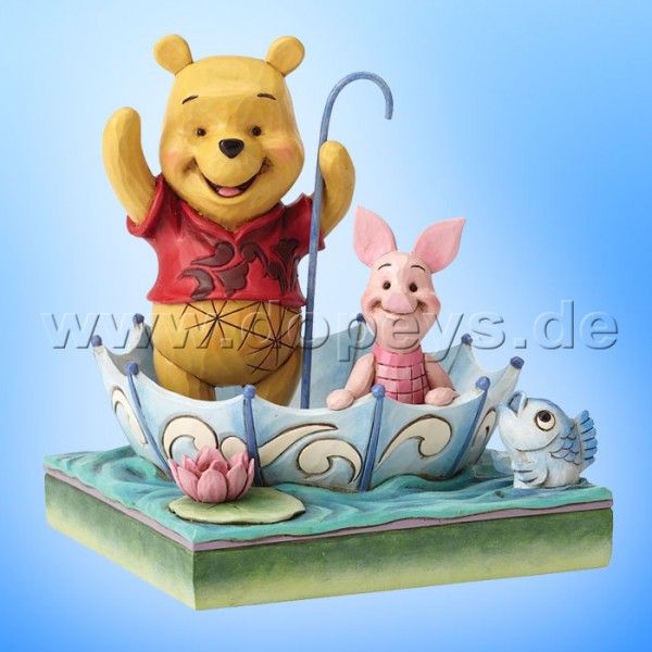 "Disney Traditions / Jim Shore Figur von Enesco ""50 Years of Friendship (Puuh und Ferkel)"" 4054279."