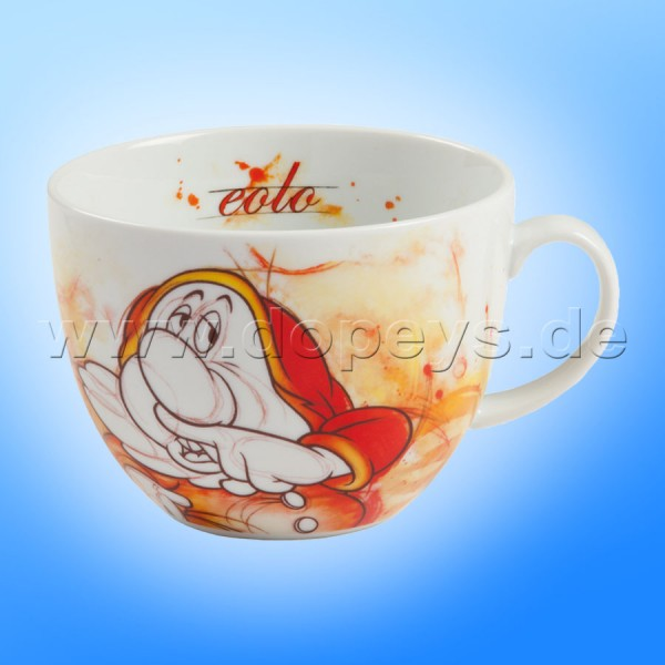 "Große Disney Cappuccino Tasse ""Hatschi"" italienisches Design, 60 cl"