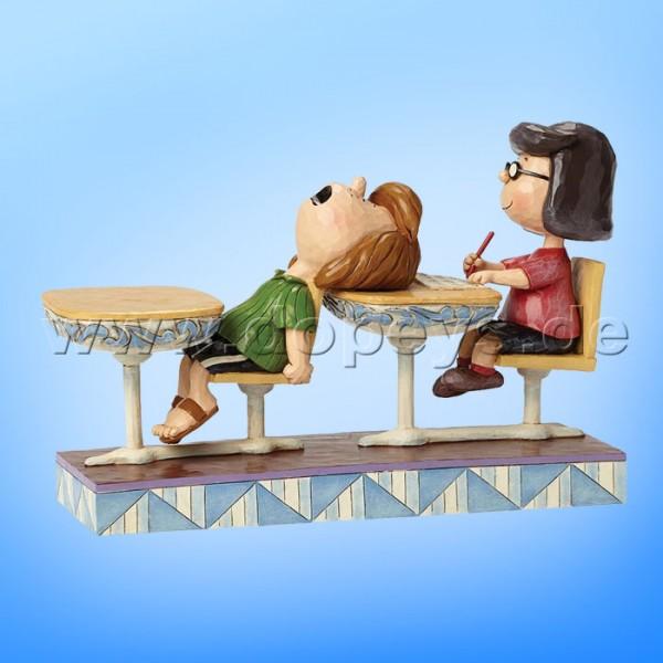 "Peanuts / Jim Shore Figur von Enesco ""School Days (Marcie & Peppermint Patty)"" 4049416."