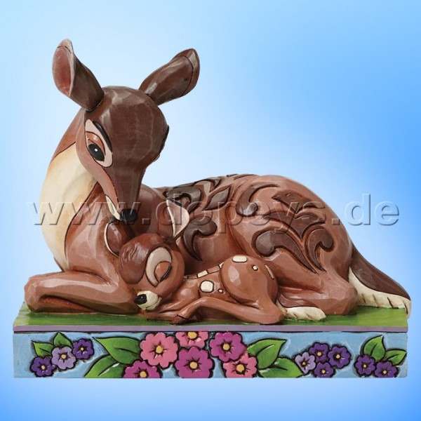 """Disney Traditions / Jim Shore Figur von Enesco. """"Sleep Tight Young Prince (Bambi schlafend mit Mutter)"""" 4049640."""