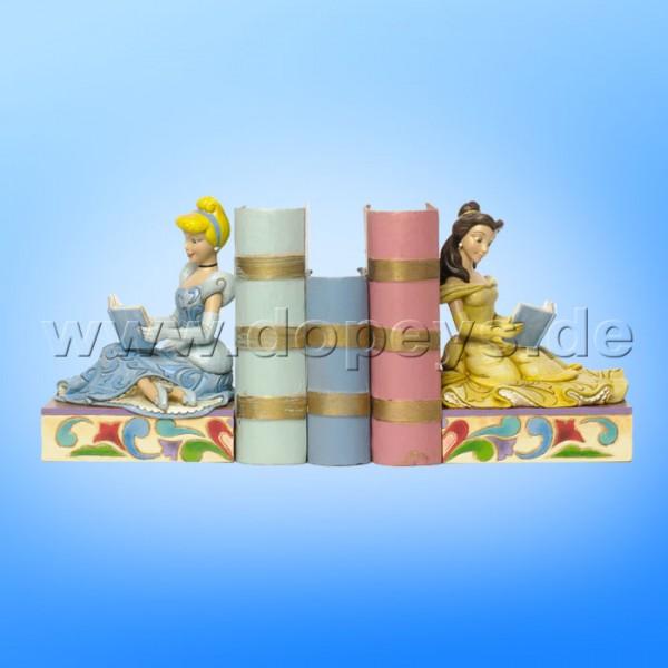 """Disney Traditions / Jim Shore Figur von Enesco """"Disney Prinzessinnen Buchstützen (Cinderella & Belle)"""" 4033970."""