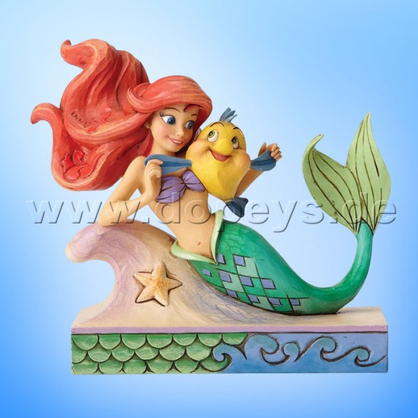 "Disney Traditions / Jim Shore Figur von Enesco ""Fun and Friends (Arielle mit Fabius)"" 4054274."