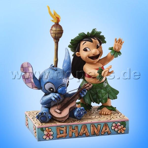 """Disney Traditions / Jim Shore Figur von Enesco. """"Ohana Means Family (Lilo & Stitch)"""" 4027136."""