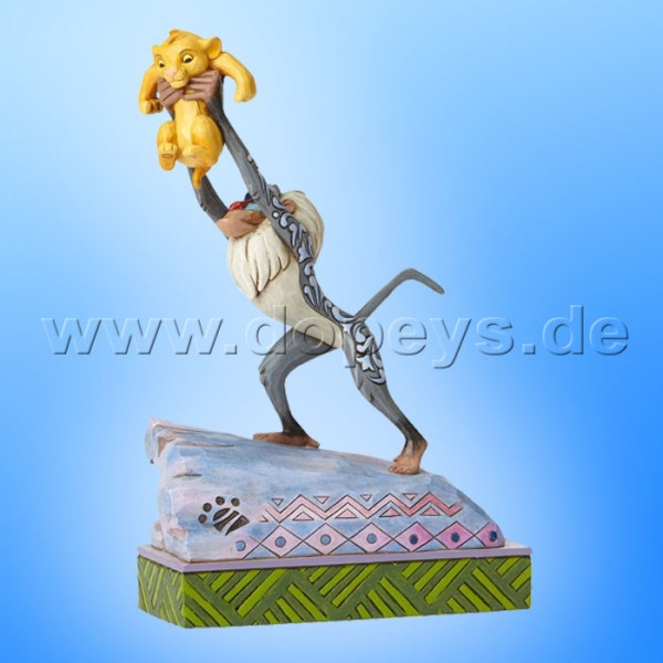 "Disney Traditions / Jim Shore Figur von Enesco ""Heir to the Throne (Rafiki & Baby Simba)"" 4055415."