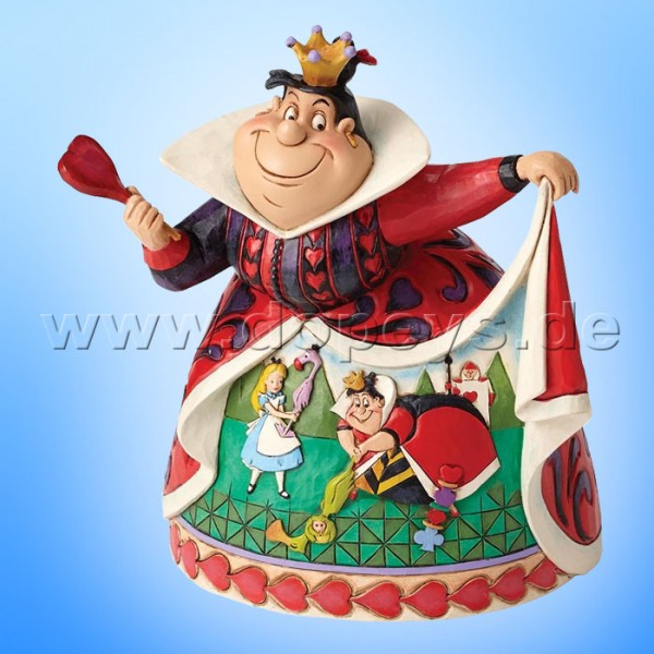 "Disney Traditions / Jim Shore Figur von Enesco ""Royal Recreation (Herzkönigin 65 Jahre Jubiläumsfigur)"" 4051993."