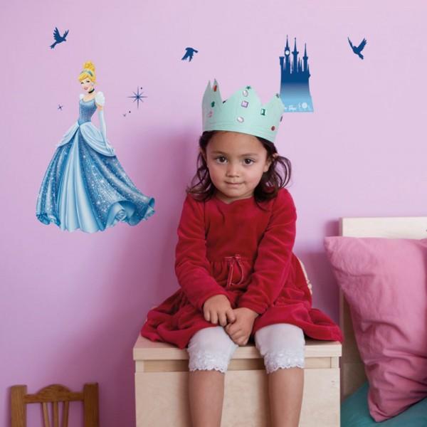 "Disney Wandsticker / Wandaufkleber Cinderella ""Princess Dream"""