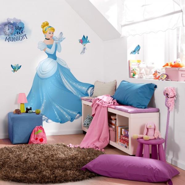 "Disney Vlies Fototapete selbstklebend Disney Prinzessin ""Cinderella XXL"" 127cm x 200cm"
