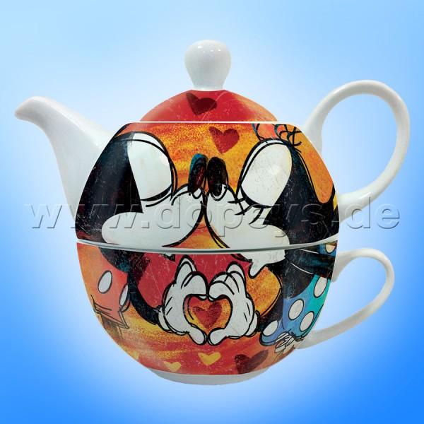"""Disney Mickey & Minnie Set aus Teekanne & Teetasse """"Tea For One"""" im italienischen Design"""