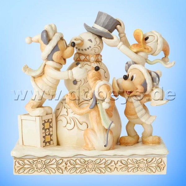 Frosty Friendship (Mickey & Freunde White Woodland) Figur von Disney Traditions / Jim Shore - Enesco 6002828