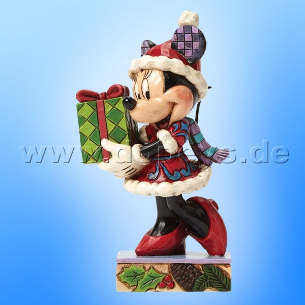 "Disney Traditions / Jim Shore Figur von Enesco. ""Holiday Gift for You (Minnie Maus)"" 4046015."