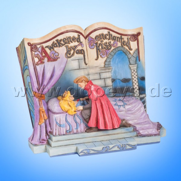 "Disney Traditions / Jim Shore Figur von Enesco. ""Enchanted Kiss (Dornröschen Märchenbuch)"" 4043627."