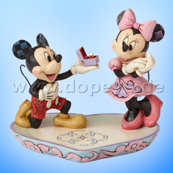 "Disney Traditions / Jim Shore Figur von Enesco ""A Magical Moment (Mickey macht Minnie einen Heiratsantrag)"" 4055436."