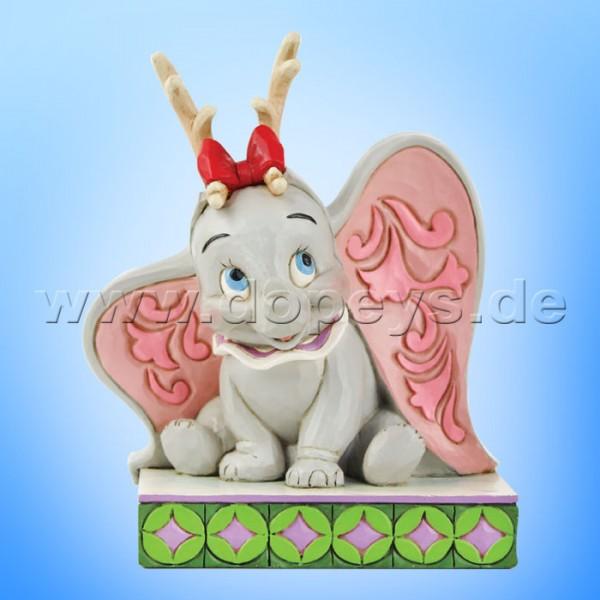 Disney Traditions - Santa's Cheerful Helper (Weihnachts-Dumbo als Rentier) von Jim Shore 6008985