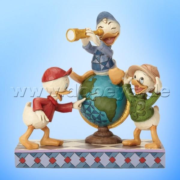 Navigating Nephews (Tick, Trick & Track) Figur von Disney Traditions / Jim Shore - Enesco 6001286