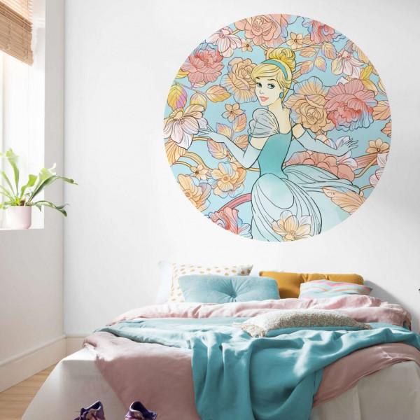 """Disney Wandsticker / Wandaufkleber """"Cinderella Pastel Dreams"""" rund 125cm x 125cm"""