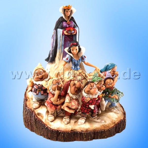 """Disney Traditions / Jim Shore Figur von Enesco.""""The One That Started Them All (Schneewittchen und die 7 Zwerge Baumstamm)"""" 4023573."""