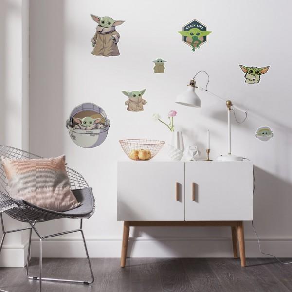 "Star Wars Wandsticker / Wandaufkleber ""Mandalorian Yoda The Child Cluster"" 50cm x 70cm"