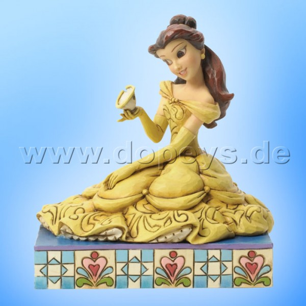 "Disney Traditions / Jim Shore Figur von Enesco ""Curious & Kind (Belle mit Tassilo)"" 4037513."