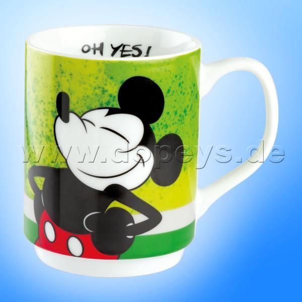 "Disney Tasse / Kaffeebecher - Mickey I Am ""Grün"" stapelbar, im italienischen Design PWM21IAM-1V, 35cl"