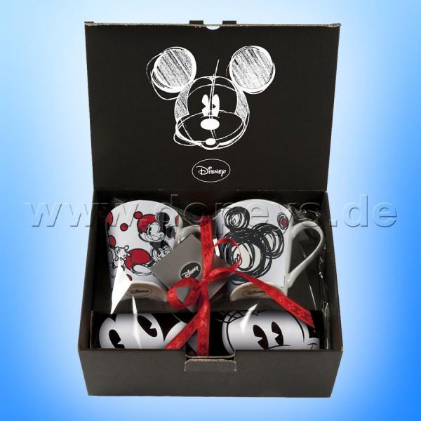 Disney Geschenkset 2 Kaffeetassen + Einkaufstasche Mickey Maus im italienischen Design