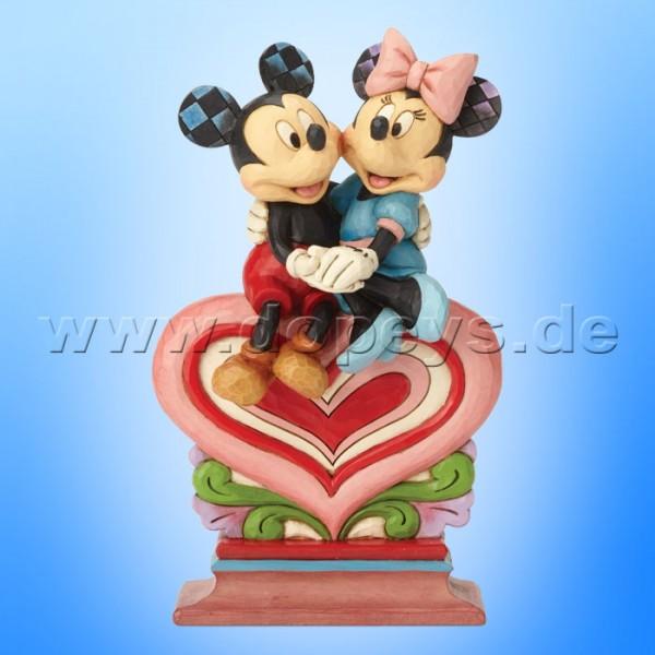 Heart To Heart (Mickey & Minnie sitzen auf einem Herz) Figur von Disney Traditions / Jim Shore - Enesco 6001282