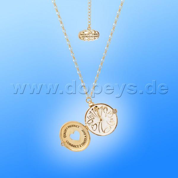 Disney Halskette - Taschenuhr Medaillon (Alice im Wunderland) in Gold von Couture Kingdom 12100321