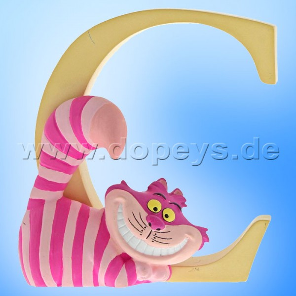 "Enchanting Disney Collection - Buchstabe ""C"" - Grinsekatze Figur von Enesco A29548"