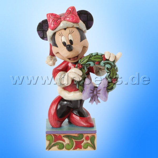 "Disney Traditions / Jim Shore Figur von Enesco. ""Season's Greetings (Minnie Maus als Weihnachtsfrau)"" 4039034."