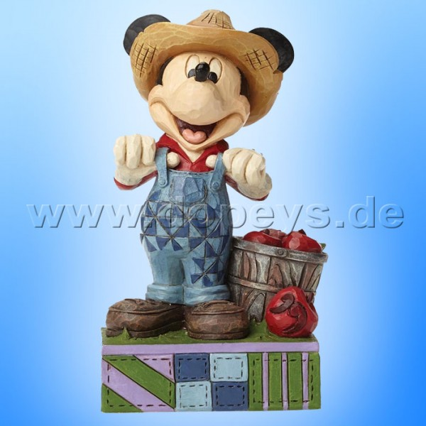 "Disney Traditions / Jim Shore Figur von Enesco. ""Fresh From The Farm (Farmer Mickey Maus)"" 4049635."