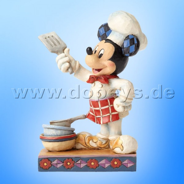 "Disney Traditions / Jim Shore Figur von Enesco ""Bon Appétit (Chefkoch Mickey)"" 4055410."