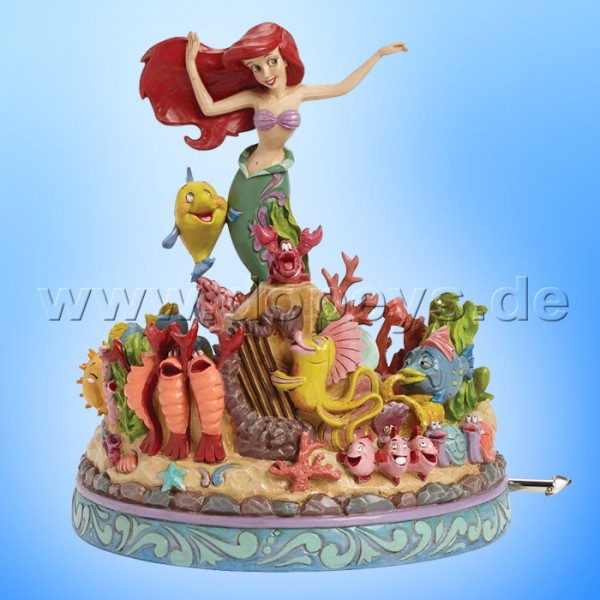 "Disney Traditions / Jim Shore Figur von Enesco. ""Under the Sea (Arielle, die Meerjungfrau Spieluhr)"" 4039073."