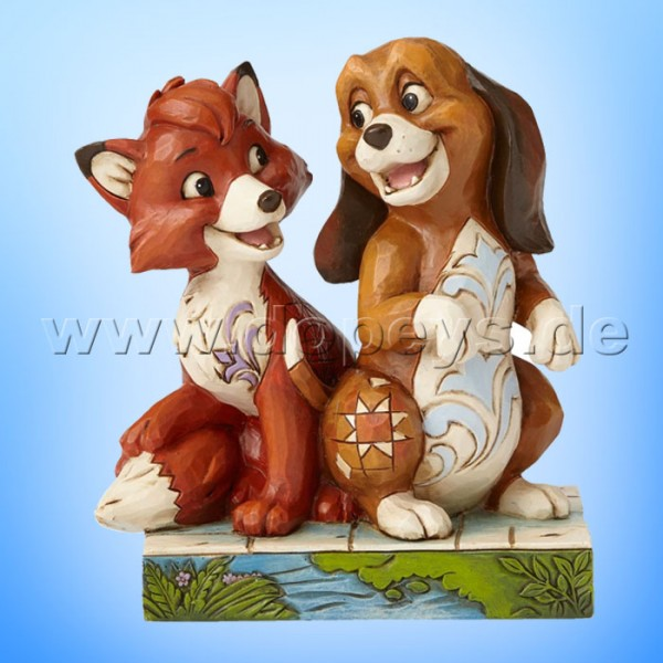 "Disney Traditions / Jim Shore Figur von Enesco ""Unexpected Friendships (Cap & Capper)"" 4055416."