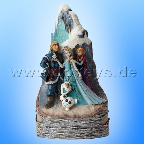 """Disney Traditions / Jim Shore Figur von Enesco.""""Worth Melting For (Die Eiskönigin Birken-Baumstamm)"""" 4048651."""