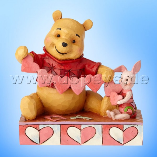 "Disney Traditions / Jim Shore Figur von Enesco ""Handmade Valentines (Winnie Puuh und Ferkel)"" 4059746"