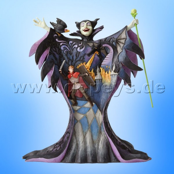"Disney Traditions / Jim Shore Figur von Enesco ""Malevolent Madness (Malefiz mit Märchenszene)"" 4055439."