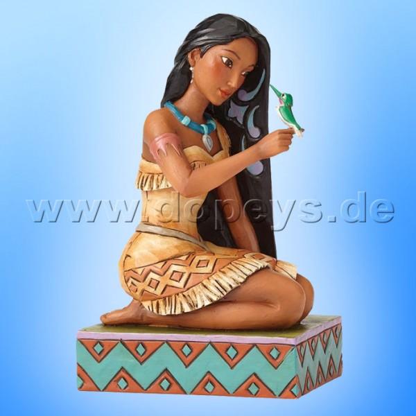 "Disney Traditions / Jim Shore Figur von Enesco ""Free and Fierce (Pocahontas mit Vogel)"" 4056128."