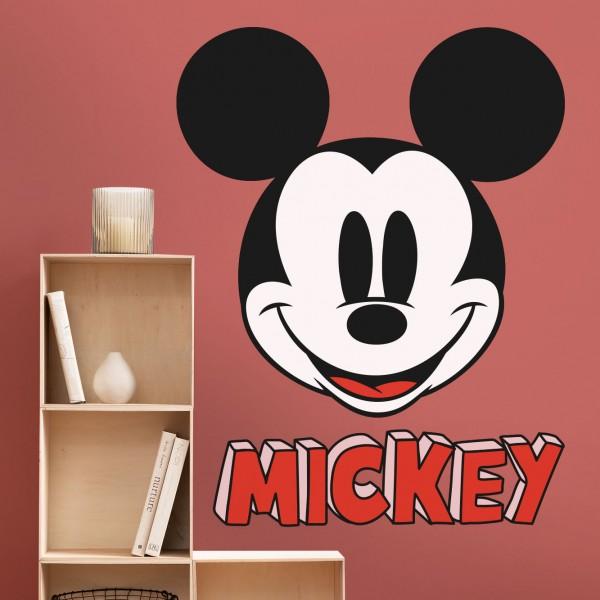 """Disney Vlies Fototapete selbstklebend Mickey Maus """"Mickey Smile XXL"""" 127cm x 200cm"""