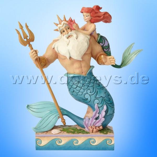 """Disney Traditions / Jim Shore Figur von Enesco """"Daddy's Little Princess (Arielle und König Triton)"""" 4059730"""