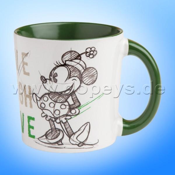 """Disney Kaffeetasse Minnie Maus """"Grün"""" Live Laugh Love, 39 cl PWM21LL/1V"""
