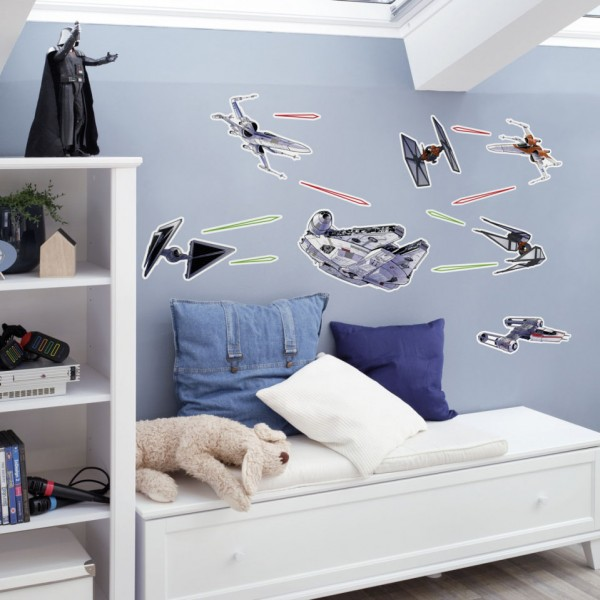 "Star Wars Wandsticker / Wandaufkleber ""Star Wars Spaceship"" 50cm x 70cm"