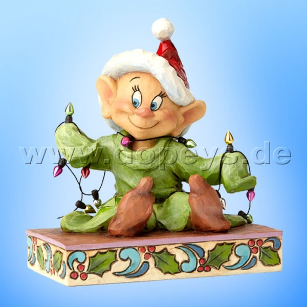"Disney Traditions / Jim Shore Figur von Enesco ""Light Up The Holidays (Seppl mit Lichterkette)"" 4057938."