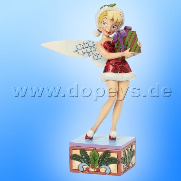 """Disney Traditions / Jim Shore Figur von Enesco """"Holiday Wishes (Tinker Bell)"""" 4041808."""