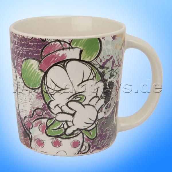 """Disney Tasse / Kaffeebecher Elfenbein-Minnie """"Violett"""" - Mickey & Minnie Color Fun, im italienischen Design PWM21CF-1VI, 39cl"""