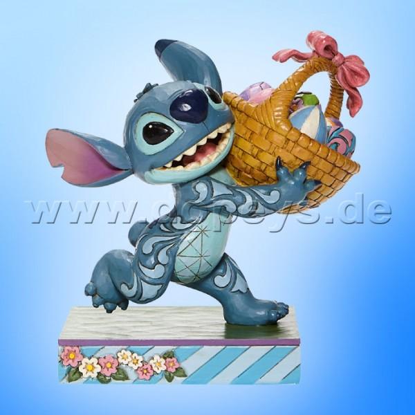 Disney Traditions - Bizarre Bunny (Stitch mit Osterkorb) von Jim Shore 6008075