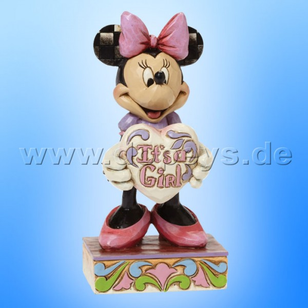 "Disney Traditions / Jim Shore Figur von Enesco. ""It's a Girl (Minnie Maus)"" 4043664."