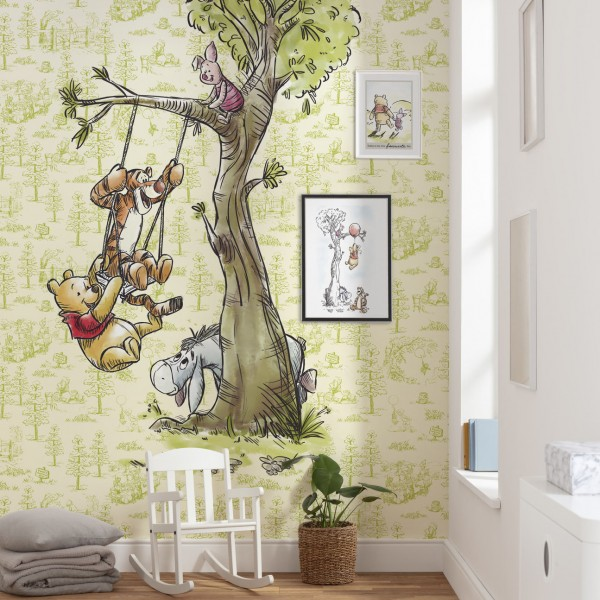 """Disney Vlies Fototapete Winnie Puuh """"Winnie Pooh In The Wood"""""""