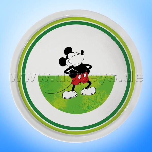 """Disney Pizzateller / Servierplatte / Tortenplatte """"Grün"""" Mickey I Am, im italienischen Design PWM37AM-5V"""