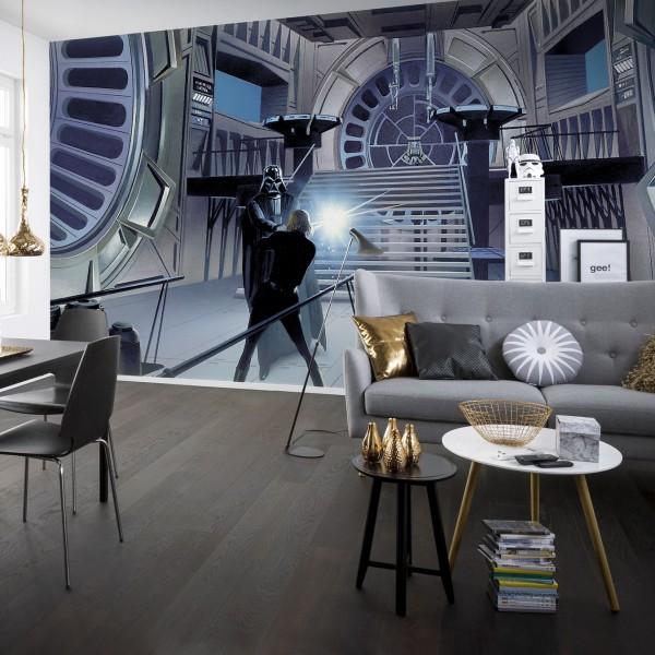 """Star Wars Vlies Fototapete """"Star Wars Classic RMQ Duell Throneroom"""""""
